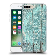 Official Micklyn Le Feuvre On Wood Teal And Aqua Botanical Doodle On Weathered Soft Gel Case For Apple Iphone 7 Plus