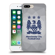 Official Manchester City Man City Fc Crest Geometric Grey Full Obsidian Blue Hard Back Case For Apple Iphone 7 Plus
