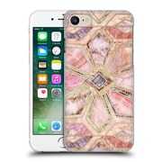Official Micklyn Le Feuvre Marble Patterns Gilded Stone Tiles Hard Back Case For Apple Iphone 7