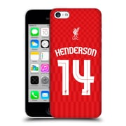 Official Liverpool Football Club Shirt Home Shirt Red Henderson Hard Back Case For Apple Iphone 5C