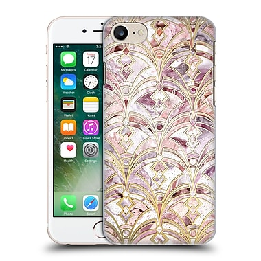 Official Micklyn Le Feuvre Marble Patterns Dusty Rose And Coral Art Deco Marbling Pattern Hard Back Case For Apple Iphone 7