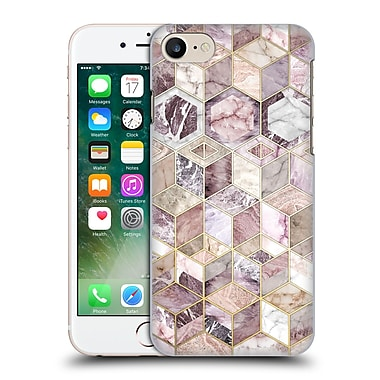Official Micklyn Le Feuvre Marble Patterns Blush Quartz Honeycomb Hard Back Case For Apple Iphone 7