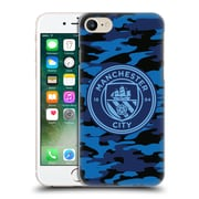 Official Manchester City Man City Fc Badge Camou Dark Blue Moon Mono Hard Back Case For Apple Iphone 7