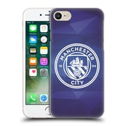 Official Manchester City Man City Fc Badge Geometric Obsidian White Mono Hard Back Case For Apple Iphone 7