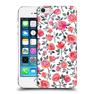 Official Micklyn Le Feuvre Florals Roses On White Hard Back Case For Apple Iphone 5 / 5S / Se