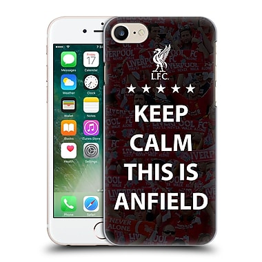 Official Liverpool Football Club Anfield Keep Calm Black Hard Back Case For Apple Iphone 7