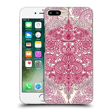 Official Micklyn Le Feuvre Floral Patterns Berry Pink Cream And Mauve Hard Back Case For Apple Iphone 7 Plus