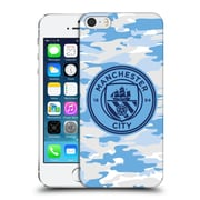 Official Manchester City Man City Fc Badge Camou Light Blue Moon Mono Hard Back Case For Apple Iphone 5 / 5S / Se