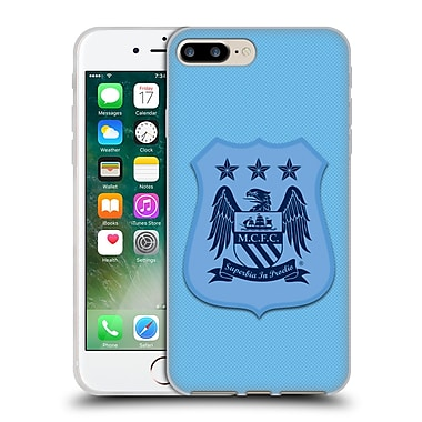 Official Manchester City Man City Fc Crest Kit Home Kit Mono Soft Gel Case For Apple Iphone 7 Plus