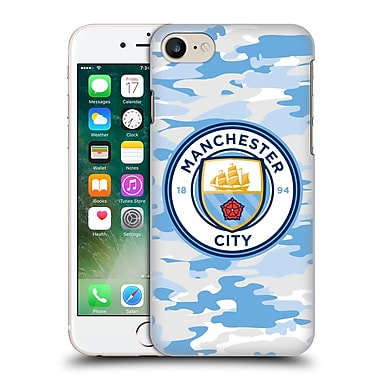 Official Manchester City Man City Fc Badge Camou Light Blue Moon Hard Back Case For Apple Iphone 7