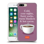 Official Emoji Winter Quotes Hot Cocoa Hard Back Case For Apple Iphone 7 Plus