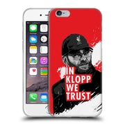 Official Liverpool Football Club Jurgen Klopp Stare Red Soft Gel Case For Apple Iphone 6 / 6S