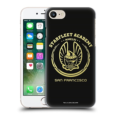 Official Star Trek Starfleet Academy Logos Black And Gold Hard Back Case For Apple Iphone 7