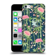 Official Micklyn Le Feuvre Patterns 3 Bamboo Birds And Blossoms On Dark Teal Hard Back Case For Apple Iphone 5C