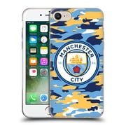 Official Manchester City Man City Fc Badge Camou Club Soft Gel Case For Apple Iphone 7