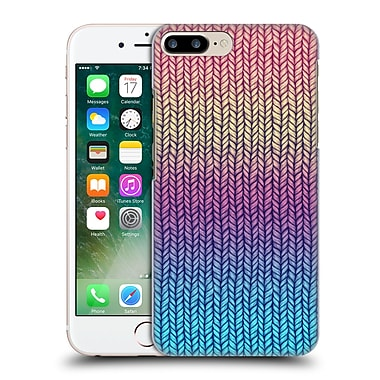 Official Micklyn Le Feuvre Patterns Rainbow Chunky Knit Hard Back Case For Apple Iphone 7 Plus