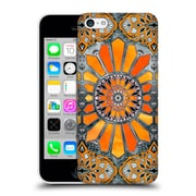 Official Micklyn Le Feuvre Patterns 3 Celebrating The Seventies Tangerine Orange Hard Back Case For Apple Iphone 5C