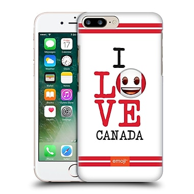 Official Emoji I Love My Country Canada Hard Back Case For Apple Iphone 7 Plus