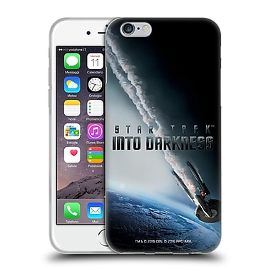 Official Star Trek Posters Into Darkness Xii Uss Enterprise Ncc-1701 Falling Soft Gel Case For Apple Iphone 6 / 6S