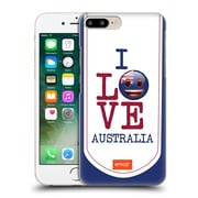Official Emoji I Love My Country Australia Hard Back Case For Apple Iphone 7 Plus