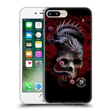 Official Anne Stokes Oriental Skull Red Dragon Swirls Soft Gel Case For Apple Iphone 7 Plus