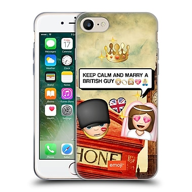 Official Emoji Photo Graphic British Guy Soft Gel Case For Apple Iphone 7