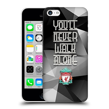 Official Liverpool Football Club Crest Never Walk Alone Grey Geo Hard Back Case For Apple Iphone 5C