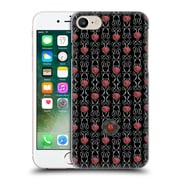 Official Anne Stokes Motif Patterns Vertical Rose And Swirl Hard Back Case For Apple Iphone 7