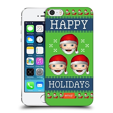 Official Emoji Ugly Christmas Three Santas Hard Back Case For Apple Iphone 5 / 5S / Se