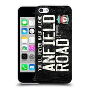 Official Liverpool Football Club Crest Never Walk Alone Anfield Road Black Hard Back Case For Apple Iphone 5C