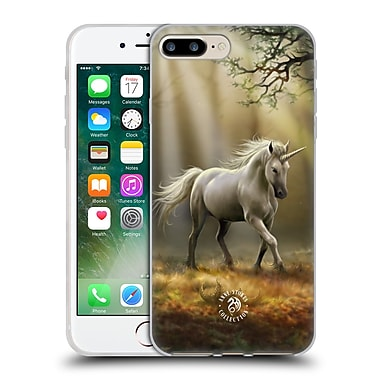 Official Anne Stokes Mythical Creatures Glimpse Of A Unicorn Soft Gel Case For Apple Iphone 7 Plus