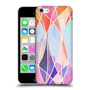Official Micklyn Le Feuvre Patterns Purple And Peach Love Pastel Hard Back Case For Apple Iphone 5C