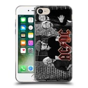 Official Ac/Dc Acdc Group Photo Black And White Bricks Soft Gel Case For Apple Iphone 7