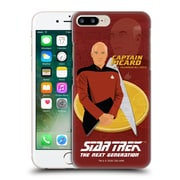 Official Star Trek Iconic Characters Tng Captain Picard Hard Back Case For Apple Iphone 7 Plus