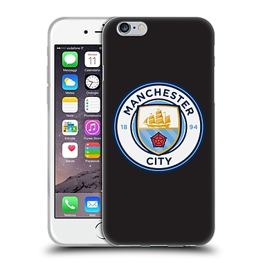 Official Manchester City Man City Fc Badge Black Full Colour Soft Gel Case For Apple Iphone 6 / 6S