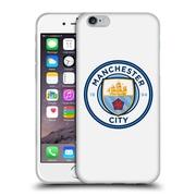 Official Manchester City Man City Fc Badge Plain Full Colour Soft Gel Case For Apple Iphone 6 / 6S