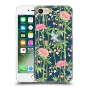 Official Micklyn Le Feuvre Patterns 3 Bamboo Birds And Blossoms On Dark Teal Hard Back Case For Apple Iphone 7