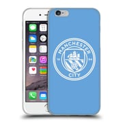 Official Manchester City Man City Fc Badge Blue White Mono Soft Gel Case For Apple Iphone 6 / 6S