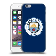 Official Manchester City Man City Fc Badge Obsidian Full Colour Soft Gel Case For Apple Iphone 6 / 6S