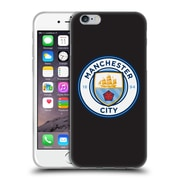 Official Manchester City Man City Fc Badge Black White Outline Soft Gel Case For Apple Iphone 6 / 6S