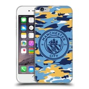 Official Manchester City Man City Fc Badge Camou Club Mono Soft Gel Case For Apple Iphone 6 / 6S