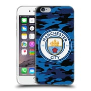 Official Manchester City Man City Fc Badge Camou Dark Blue Moon Soft Gel Case For Apple Iphone 6 / 6S