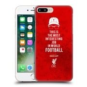 Official Liverpool Football Club Klopp Quotes Interesting Job Icon Hard Back Case For Apple Iphone 7 Plus