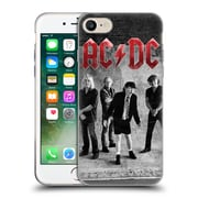 Official Ac/Dc Acdc Group Photo Black And White Studio Soft Gel Case For Apple Iphone 7