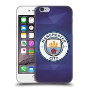 Official Manchester City Man City Fc Badge Geometric Obsidian Full Colour Soft Gel Case For Apple Iphone 6 / 6S