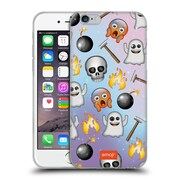 Official Emoji Patterns Ghost Soft Gel Case For Apple Iphone 6 / 6S