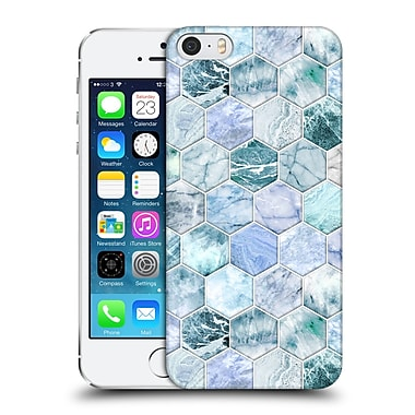 Official Micklyn Le Feuvre Marble Patterns Ice Blue And Jade Stone And Hexagon Tiles Hard Back Case For Apple Iphone 5 / 5S / Se