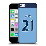 Official Manchester City Man City Fc Player Home Kit 2016/17 Group 2 Silva Hard Back Case For Apple Iphone 5C