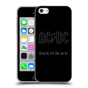 Official Ac/Dc Acdc Album Cover Back In Black Soft Gel Case For Apple Iphone 5C