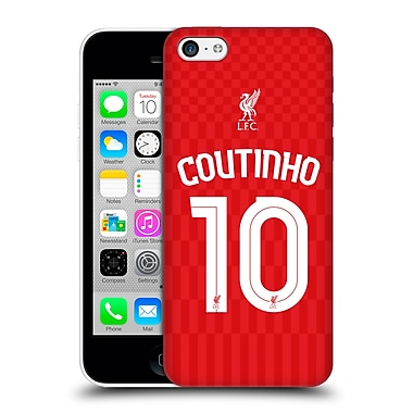 Official Liverpool Football Club Shirt Home Shirt Red Coutinho Hard Back Case For Apple Iphone 5C